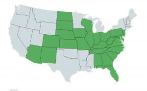 Claims, Liability Claims, US map