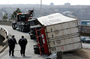 Cargo, claims, overturned truck